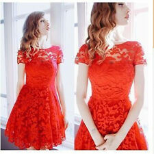 Fashion Women Lace Short Dress Prom Evening Party Cocktail Bridesmaid Wedding