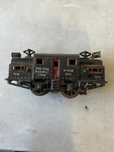 Ives-Prewar-Rare-3218-Locomotive-Cast-Iron-Circa-Unknown
