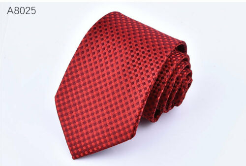 Classic Red Black Blue Mens Tie Paisley Stripe Necktie Set Wedding Jacquard New