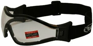 Z-33 Motorcycle Riding Goggles Anti-fog Clear Shatterproof Lens by Global Vision