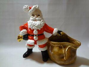 Vintage-Rare-Hand-Crafted-Ceramic-12-034-Christmas-Santa-1976-Sack-Bag-Mold-NICE