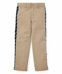 Polo-Ralph-Lauren-Boys-Khaki-Side-Stripe-Stretch-Chino-Warm-Up-Pants-Size-12-65