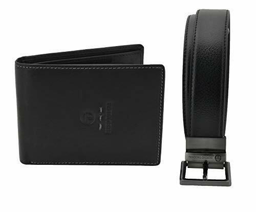 Man Gift Box, Black and Brown Reversible Shortening Belt Set and