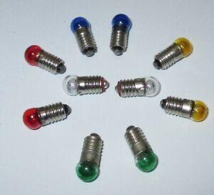 Lampes-de-Remplacement-6mm-Bille-3-5V-Couleur-E5-5-au-Choix-10-X-Neuf