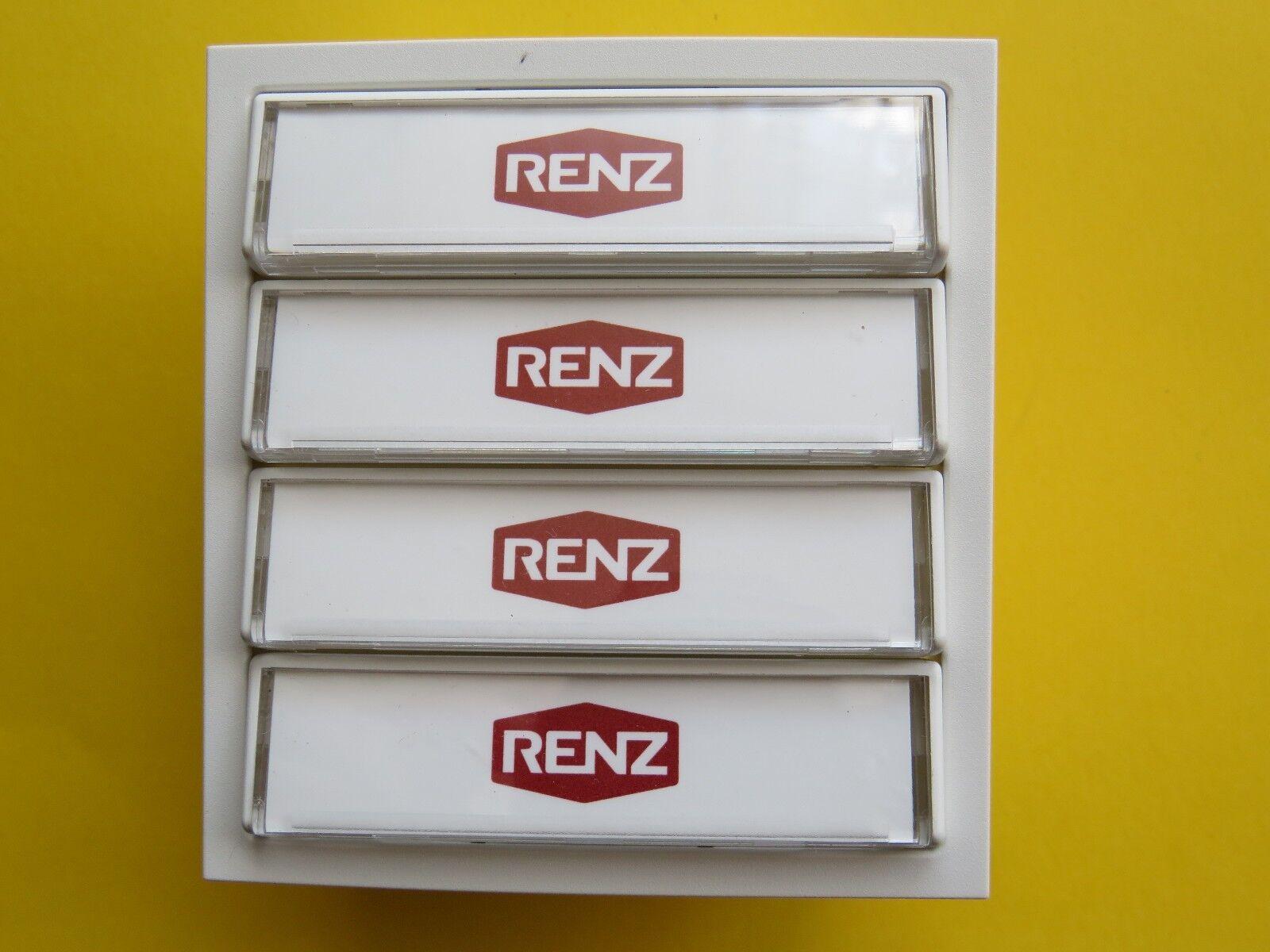Renz Tastenmodul 4-Klingeltasten weiss oder grau Klingelmodul 97-9-85272