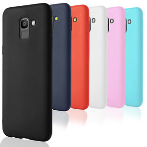 Plain-case-en-TPU-pour-Samsung-Galaxy-J6-2018-Telephone-Shell-silicone-Ultraslim-pare-chocs