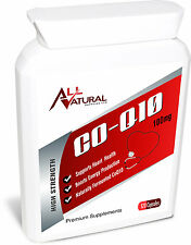 COQ10 100mg All Naturals Co-enzyme Q10 x 120 Natural fermented Softgels