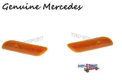 Genuine Mercedes r170 Turn Signal Lens LEFT + RIGHT front blinker SET lh rh