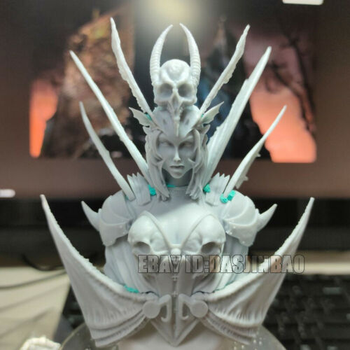 Unpainted 1//10 Vampire Princess Bust Girl Resin Figure Model Kit Unassembled GK