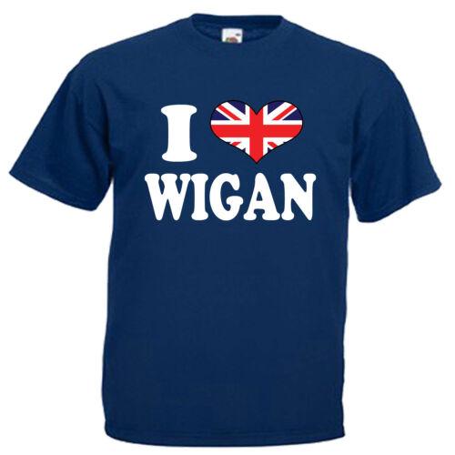 I Love Heart Wigan Children/'s Kids T Shirt