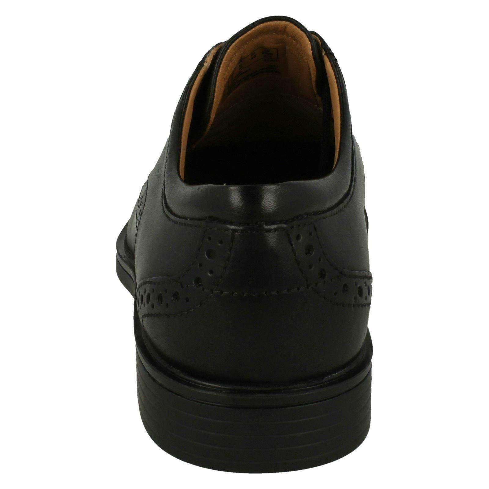 Uomo Clarks Un ALDRIC ala nero pelle Scarpe formali stringate Calzabilità G Scarpe classiche da uomo