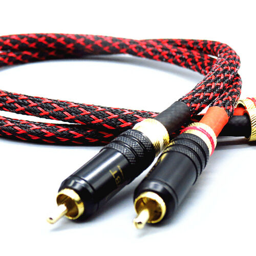 Pair HI-End Pure copper RCA To RCA Audio Cable 2RCA Interconnect cable HIFI M100