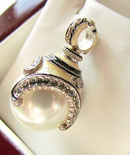 SALE ! LOVELY RUSSIAN EGG PENDANT STERLING SILVER 925 with WHITE PEARL