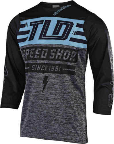 Troy Lee Designs Ruckus Bolt Bike Jersey Heather Grey//Black 2020