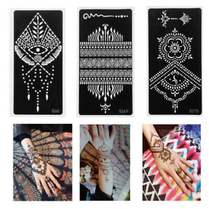 1x Henna Template Sticker Tattoo Stencils Temporary Hand Decal Diy Body Art Uk Ebay