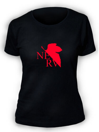 Evangelion Nerv T-Shirt tee cosplay manga anime womens ladies