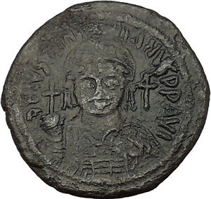 JUSTINIAN-I-the-GREAT-527AD-Cyzicus-LARGE-Follis-Ancient-Byzantine-Coin-i53732
