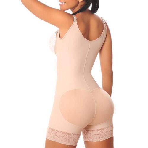 Damen Spitze Bauchweg Korsett Mieder Body Shaper Slim Push Up Bodysuit Overalls
