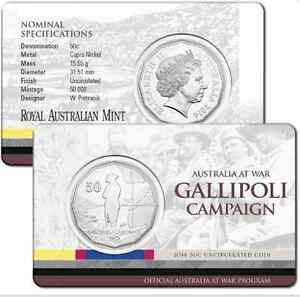 2014-RAM-50-cent-UNC-Coin-Australia-at-War-Gallipoli-Campaign