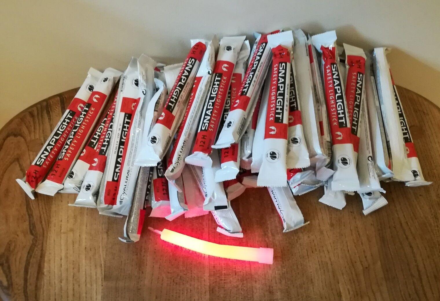 CYALUME Snaplight Rosso luminosi – 6 POLLICI x 50 scadenza 2021 nuova luce Snap Lite