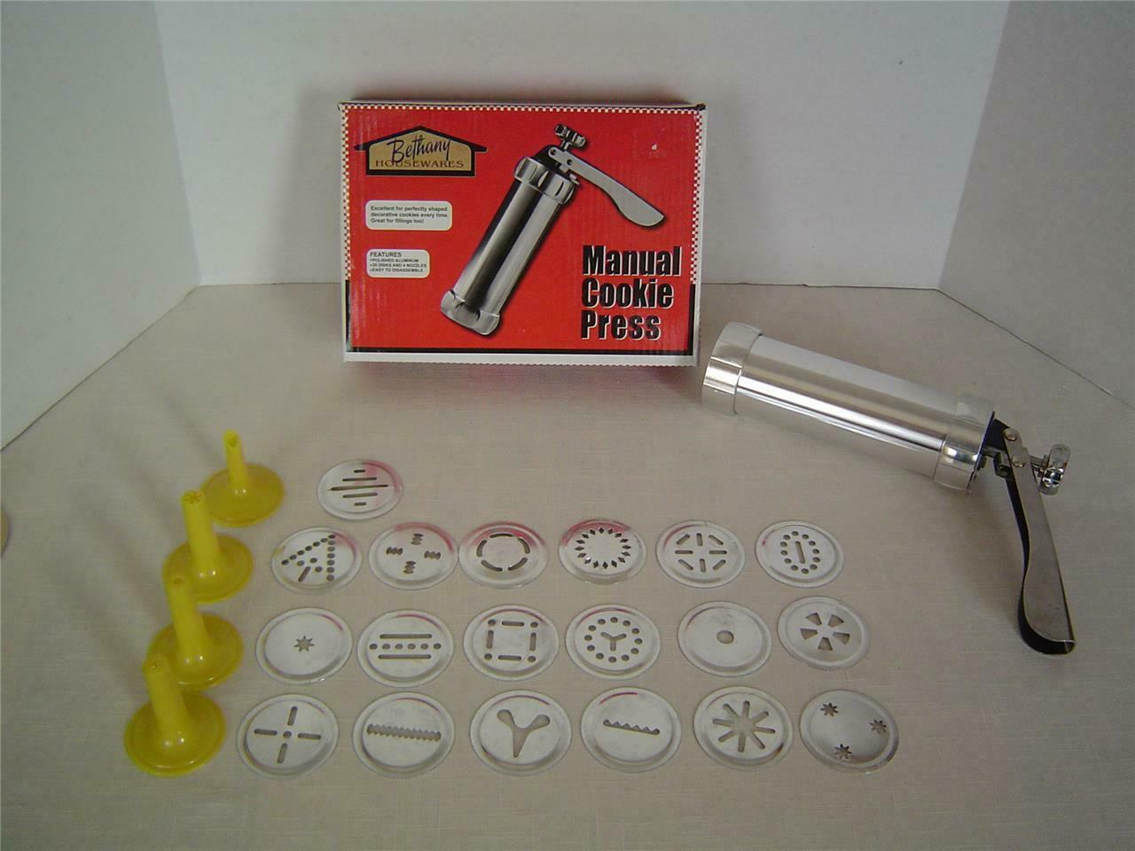 QYIYA 20 Pcs Cookie Press Set with Cake Cream Decorating Syringe Baking Pastry Nozzle