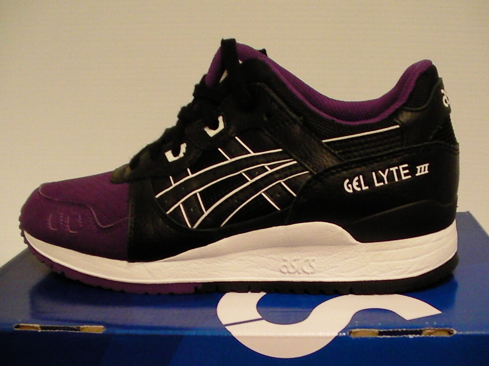 Asics running shoes us gel-lyte iii size 7.5 us shoes men purple/black new with box 0d8ea6