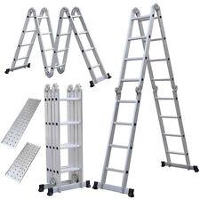 Telescopic 15.5ft 5.0M Multi Folding Aluminium Ladder Extendable US Stock NEW