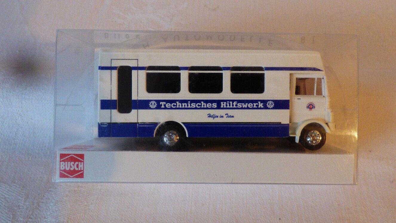 Busch 1 87 H0 - 40784 Mercedes-Benz LP809   THW    - OVP    Preisreduktion
