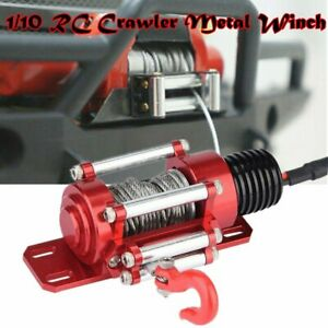 Metal-Remote-Control-Wired-Winch-Set-For-1-10-RC-Rock-Crawler-Car-SCX10-D90-D110