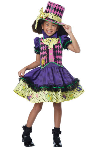 Deluxe Mad Hatter-ess Alice Girls Child Costume