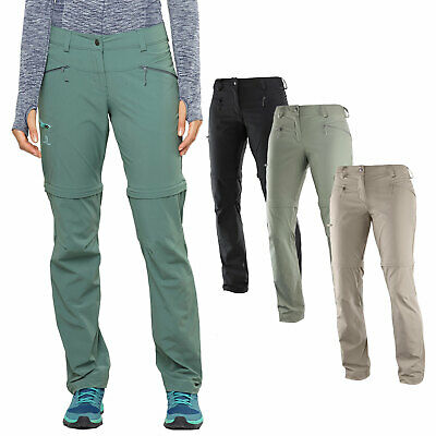 Salomon Wayfarer Zip Pant Womens Hiking Outdoor Trousers Removable Legs | eBay