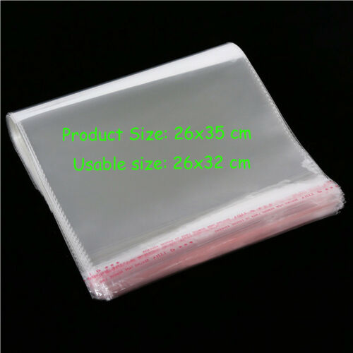 OPP Clear Cellophane Cello Bags Card Display Self Adhesive Peel And Seal Plastic