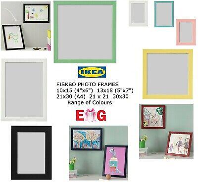 IKEA FISKBO 4x6 10x15 5x7 13x18 Photo Frame Picture Frame Black Blue White Pink