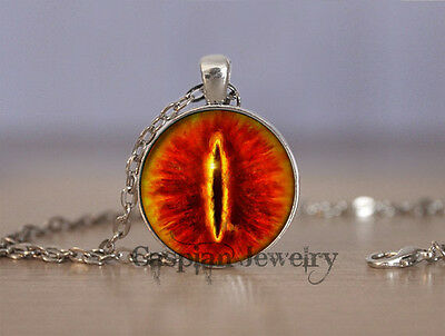 Fashion Eye of Sauron (sil) LOTR Lord of the Rings Pendant Necklace