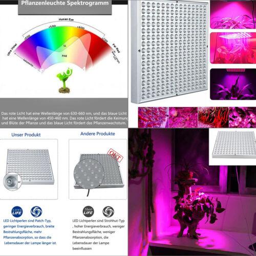 45W Pflanzenlampe Wachstumslampe Pflanzenleuchte Pflanzen Grow Lampe 225LEDs