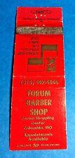 "Vintage ""Forum"" Barber Shop Matchbook Cover Columbia, MO. #2"