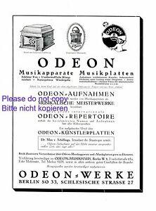 Reklame & Werbung Non-Ironing Odeon Grammphon Berlin Xl Reklame 1925 Musikapparat Plattenspieler Werbung Grammophone