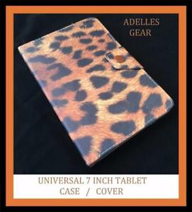 UNIVERSAL-7-INCH-ANDROID-TABLET-CASE-COVER-SAMSUNG-PENDO-BROWN-LEOPARD-PRINT