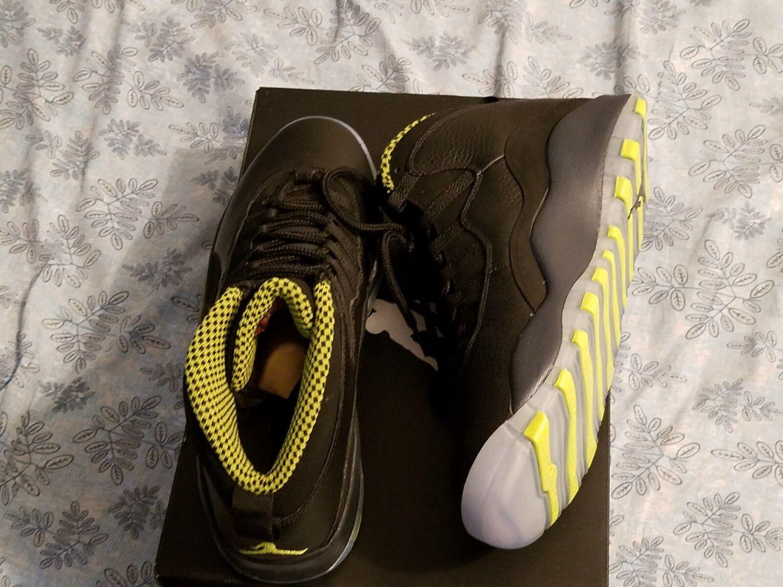 Nike Air Jordan 10 Retro Black VNM Green-CL GRY-ANTHRCT Size 10.5  Venom Green
