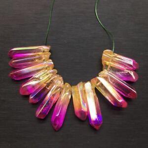 A-Lot-Titanium-Rainbow-Aura-Lemurian-Quartz-Crystal-Point-Healing-100g-10-20pcs