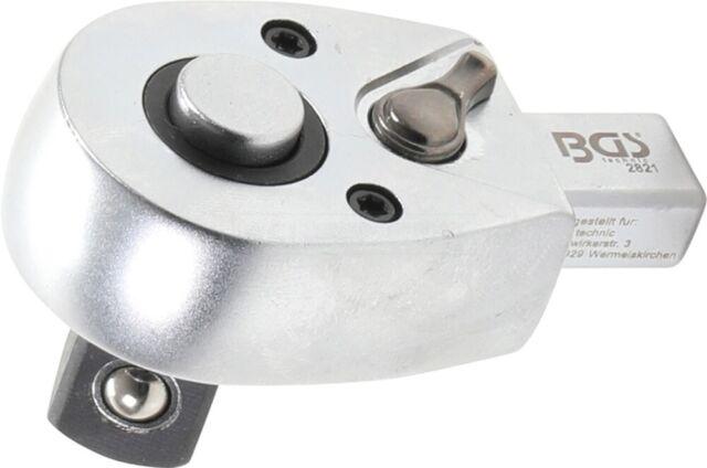 """BGS Einsteck-Umschaltknarre 12,5 MM (1/2 """") Enregistrement 9 X 12 MM – 2821"""