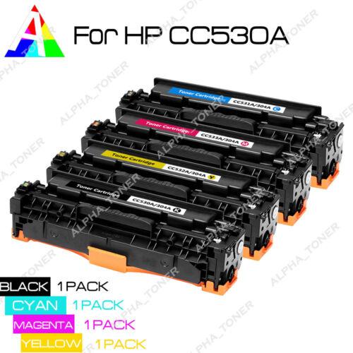 4 Pack CC530A Color Toner Cartridge Set For HP 304A LaserJet CM2320fxi CP2025dn