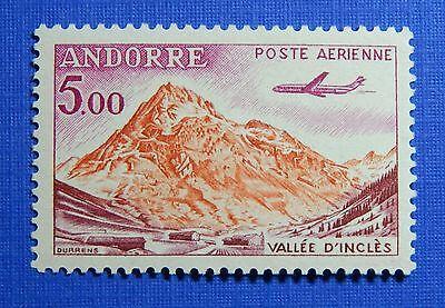 Europe Generous 1961 Andorra French 5fr Scott# C7 Michel # 177 Unused Cs28221