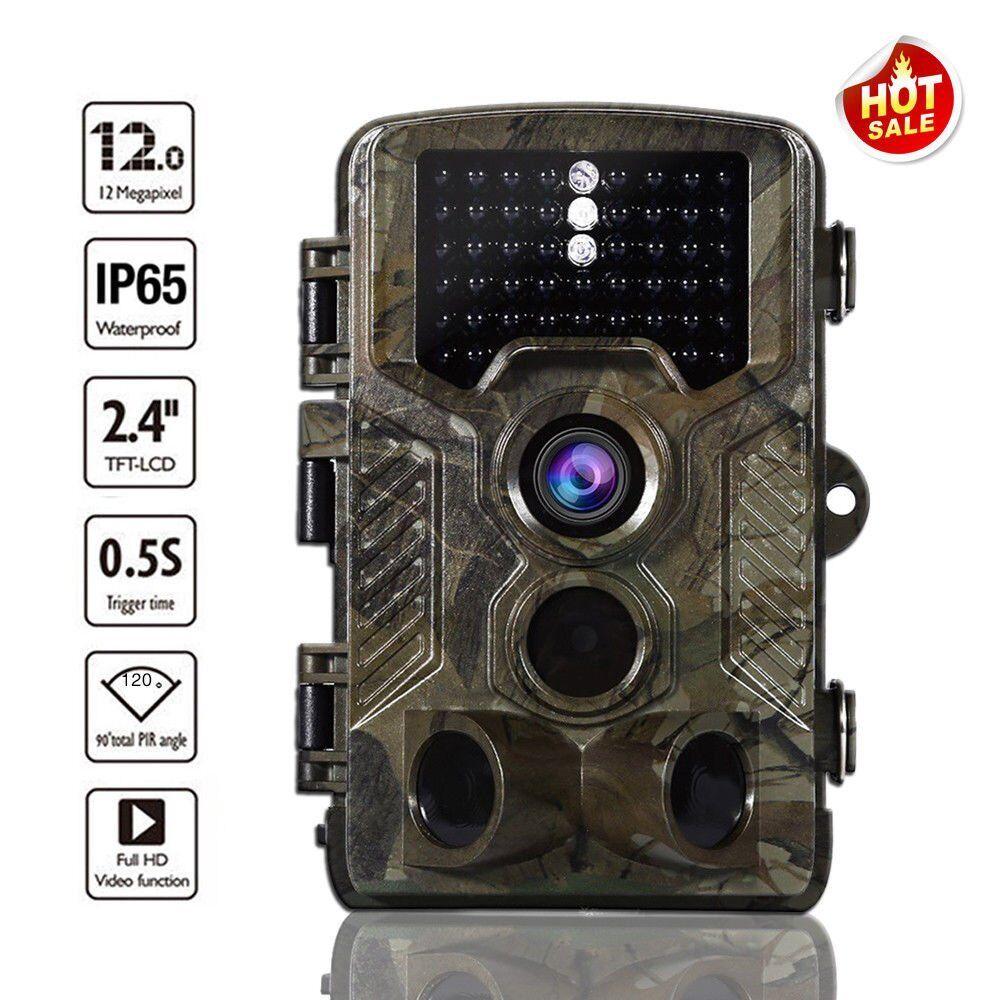 12MP 1080P HD Video Hunting Camera Night Vision 42  LEDs IR Trail Cam Trap VI  60% off