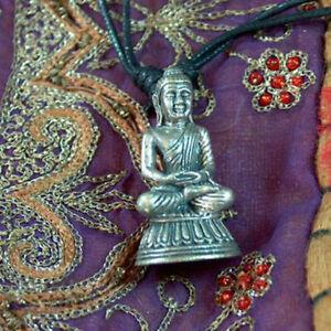 Superschoene-alte-Messing-Buddha-Amitabha-Kette-Mudra-Meditation