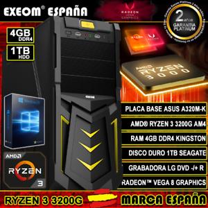 Ordenador-Gaming-Pc-AMD-Ryzen-3-3200G-AM4-4GB-DDR4-1TB-de-Sobremesa-Windows-10