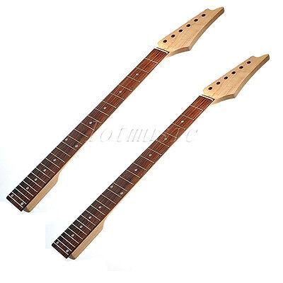 2pcs Guitar Neck Maple Square Heel Fretboard 24 Fret for Electric parts