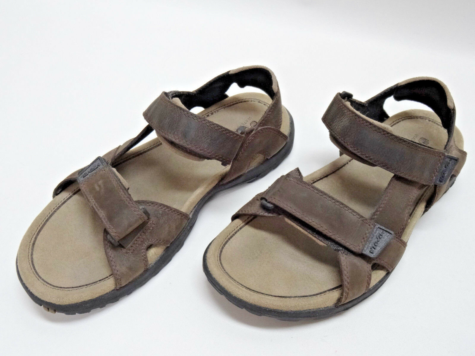 Sandali e scarpe per il mare da uomo TEVA uomoS BROWN LEATHER SANDALS ~HIKING~WATER~OUTDOORS SIZE 11US/10UK/44.5EU