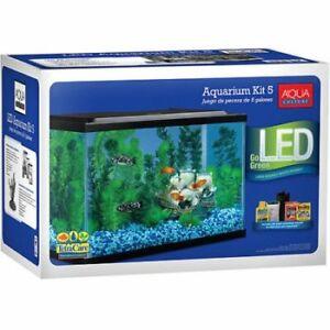 Fish-Tank-Aquarium-5-Gallon-Starter-Kit-With-LED-Lighting-Aquaculture