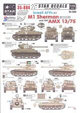 Star Decals 1/35 ISRAELI AFVs Part 3 M1 Sherman & AMX 13/75